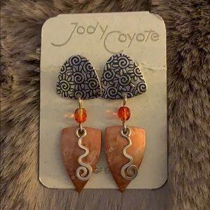 Jody Coyote copper earrings